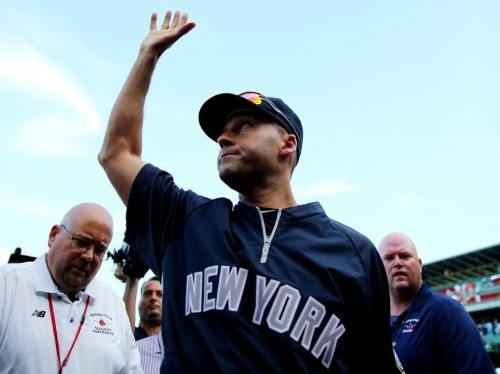 Jeter departs with one last RBI
