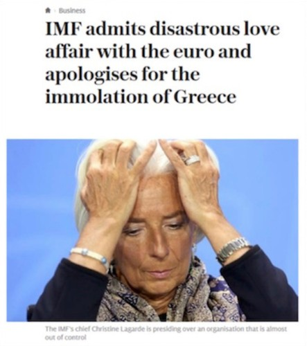 The IMF made Greece a sacrificial lamb to save the euro