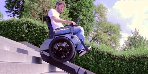 College students created an electric wheelchair that can actually climb stairs