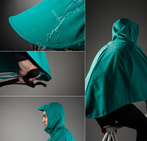 This wearable tent makes sure that bikers never get wet