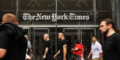 The New York Times stock surges 12% on earnings beat driven by digital subscription growth (NYT) | Markets Insider