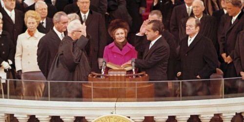 Richard Nixon was sworn in as president 50 years ago today