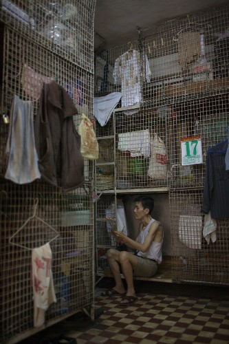 Just looking at these tiny shoebox apartments in Hong Kong will make you claustrophobic