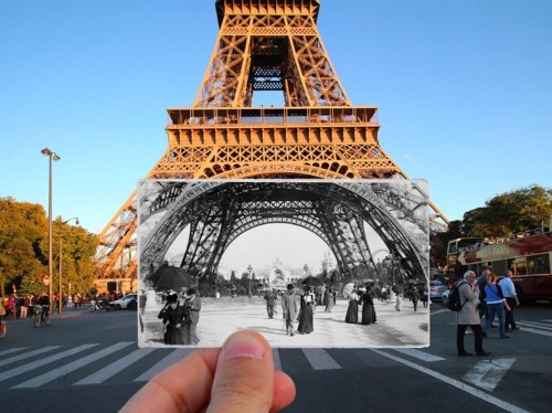 THEN AND NOW: These photos show famous scenes of Paris from the 1900s and today