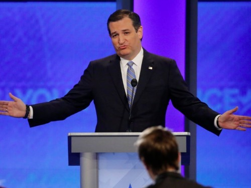 ABC moderator Martha Raddatz confronts Ted Cruz over his 'carpet-bombing' plan for ISIS