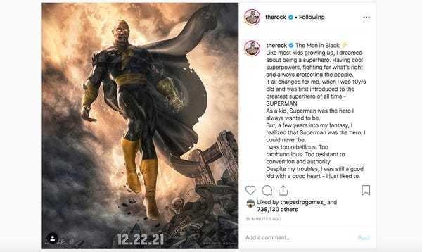 Dwayne 'The Rock' Johnson DC movie, 'Black Adam': release date, story - Business Insider