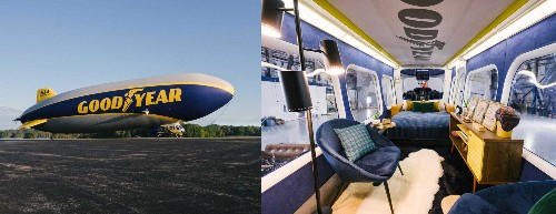 You can spend a night in the iconic Goodyear Blimp for just $150 - Business Insider