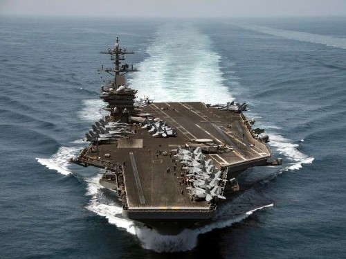 A US aircraft carrier responsible for 1,182 combat sorties against ISIS has left the Persian Gulf