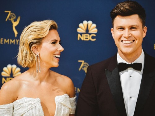 Colin Jost and Scarlett Johansson met on 'SNL' — here's a complete timeline of their budding relationship