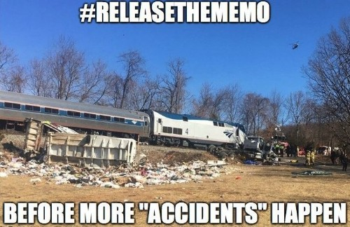 Conspiracy theorists are already making wild claims about the Amtrak train full of Republican lawmakers that collided with a truck in Virginia