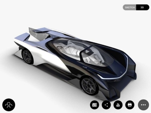 The first car from Tesla rival Faraday Future looks like the Batmobile