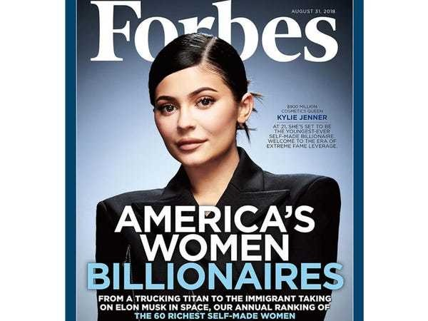 Kylie Jenner 'self-made woman' Forbes cover sparks backlash - Business Insider