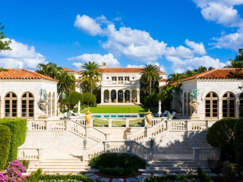 A $135 million mansion with 210 feet of private beach is one of the most expensive homes for sale in Florida, and it's right down the street from Trump's Mar-a-Lago club