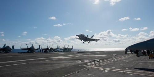 Navy carrier air wing 3 on Dwight Eisenhower aircraft carrier