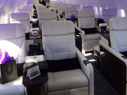 A travel company gutted a regular commercial plane and turned it into a fancy 52-seat private jet
