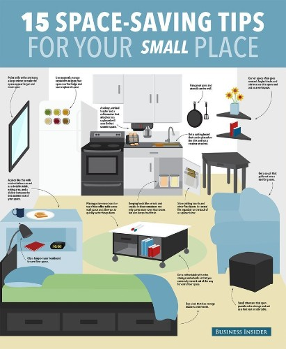 15 Ways To Save Space In Your Small Apartment