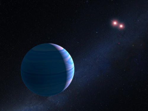 Hubble has discovered an alien planet that orbits 2 stars at once — and detected it in a weird way