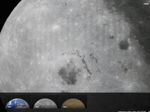 Google Just Added Maps For Mars And The Moon, And The Level Of Detail Is Stunning