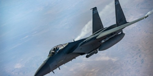 F-35s and F-15s just obliterated an entire Iraqi island to root out ISIS fighters