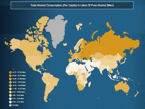 These Maps Show The Drunkest Countries In The World