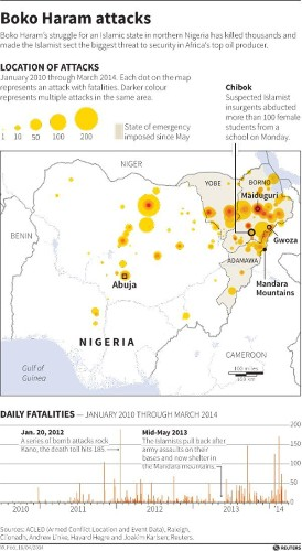 This Map Shows The Scope Of Boko Haram's Reign Of Terror In Nigeria