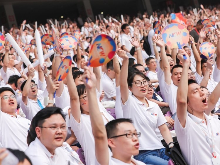 Inside Jack Ma's 60,000-person retirement party, which was held in an Olympic stadium and featured employee performances that made Ma cry