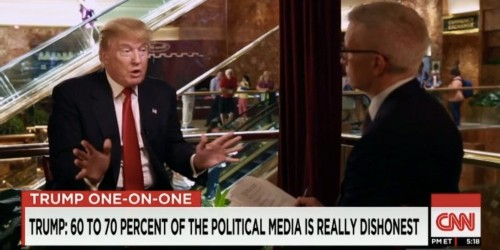 Donald Trump to Anderson Cooper: 'The people don't trust you'