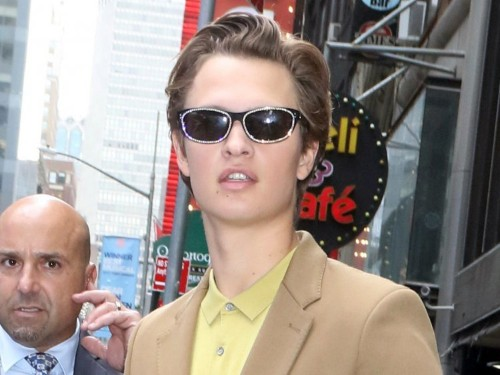 Ansel Elgort is the surprise star of New York Fashion Week after he stepped out in diamanté shades and a purse