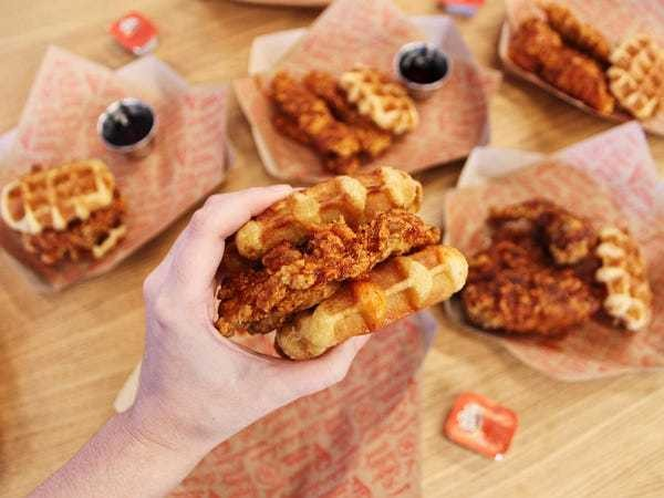 KFC's new Nashville Hot Chicken and Waffles blows the regular version out of the water - Business Insider