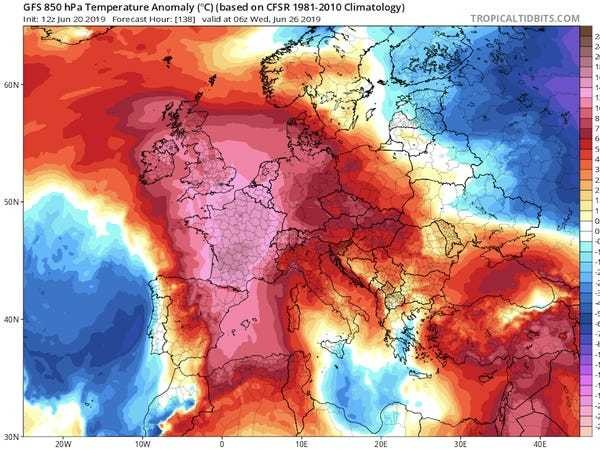 Europe heat wave breaks record, caused by high-pressure weather system - Business Insider