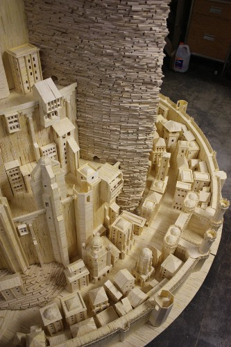 An Iowa Man Spent 3 Years Building The Mythical City From 'Lord Of The Rings' Out Of Matchsticks