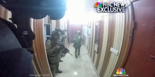 Video appears to show the joint US raid against ISIS in Iraq that killed an American soldier