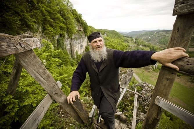 An Ex-Con Georgian Monk Lives In One Of The Coolest Monasteries In The World