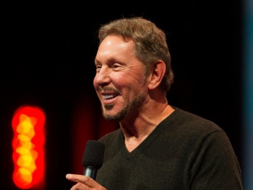 Larry Ellison unveils Oracle autonomous OS, free cloud access