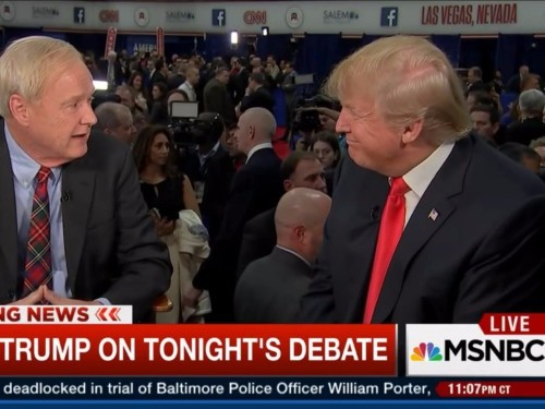 MSNBC's Chris Matthews confronted Donald Trump about Obama's birth certificate after the debate