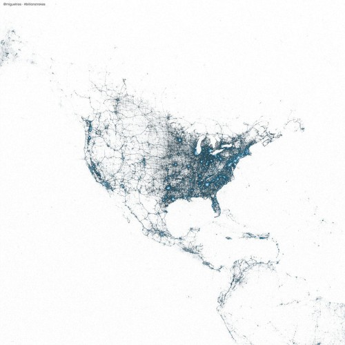 Gorgeous Maps Show The Origin Of Tweets All Around The World