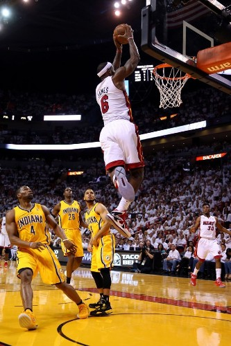 We're Still Trying To Wrap Our Heads Around How High LeBron James Jumped On This Dunk