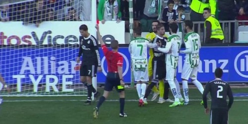 Cristiano Ronaldo Was Ejected For Slapping An Opposing Player
