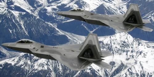 F-22 stealth jets intercept Russian strategic bomber heading for Alaska ahead of massive war games