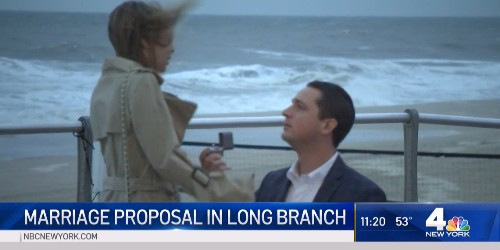 New Jersey couple's engagement caught on storm coverage - Business Insider