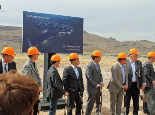 'We plan to succeed': Electric-car startup Faraday Future officially breaks ground on its $1 billion factory