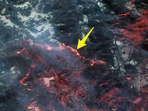 New satellite photos reveal the California wildfire's shocking damage from space - Business Insider