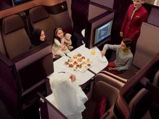Take a look inside Qatar Airways' innovative new business class - Business Insider