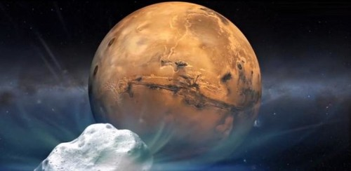 Deep space 'snowball' nears close shave with Mars