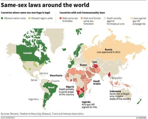 Here Are The Countries Where It's Illegal To Be Gay