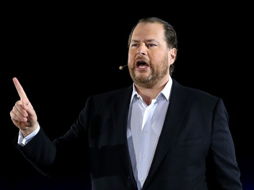 Marc Benioff says Salesforce won't buy a company unless it pays women fairly and employees like working there