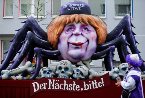 A giant float at this German carnival didn't hold back in mocking Trump's Russia problem