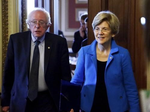 Bernie Sanders and Elizabeth Warren scorch Trump's Treasury secretary as 'hypocrisy at its worst'