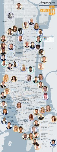 STAR MAP: See Where Your Favorite Celebrities Live In New York City