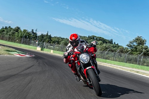 Check out the powerful new Ducati Monster motorcycle